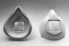 3D-printable, highly effective filtration mask that can be fitted to the provider's face and sanitized between uses.