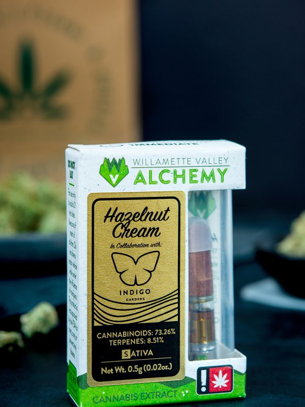 Willamette Valley Alchemy Hazelnut Cream Cannabis Vape Cartridge