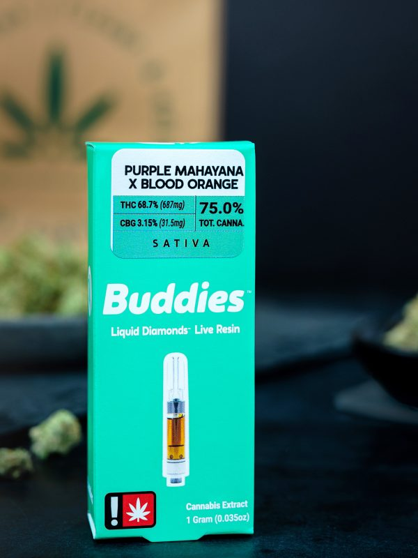 Buddies Purple Mahayana x Blood Orange Cannabis Vape Cartridge