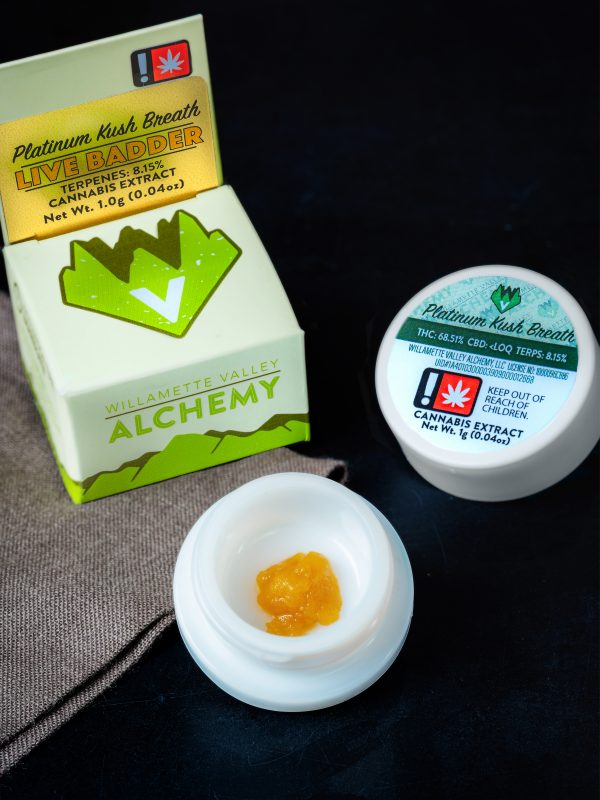 Willamette Valley Alchemy Platinum Kush Live Badder