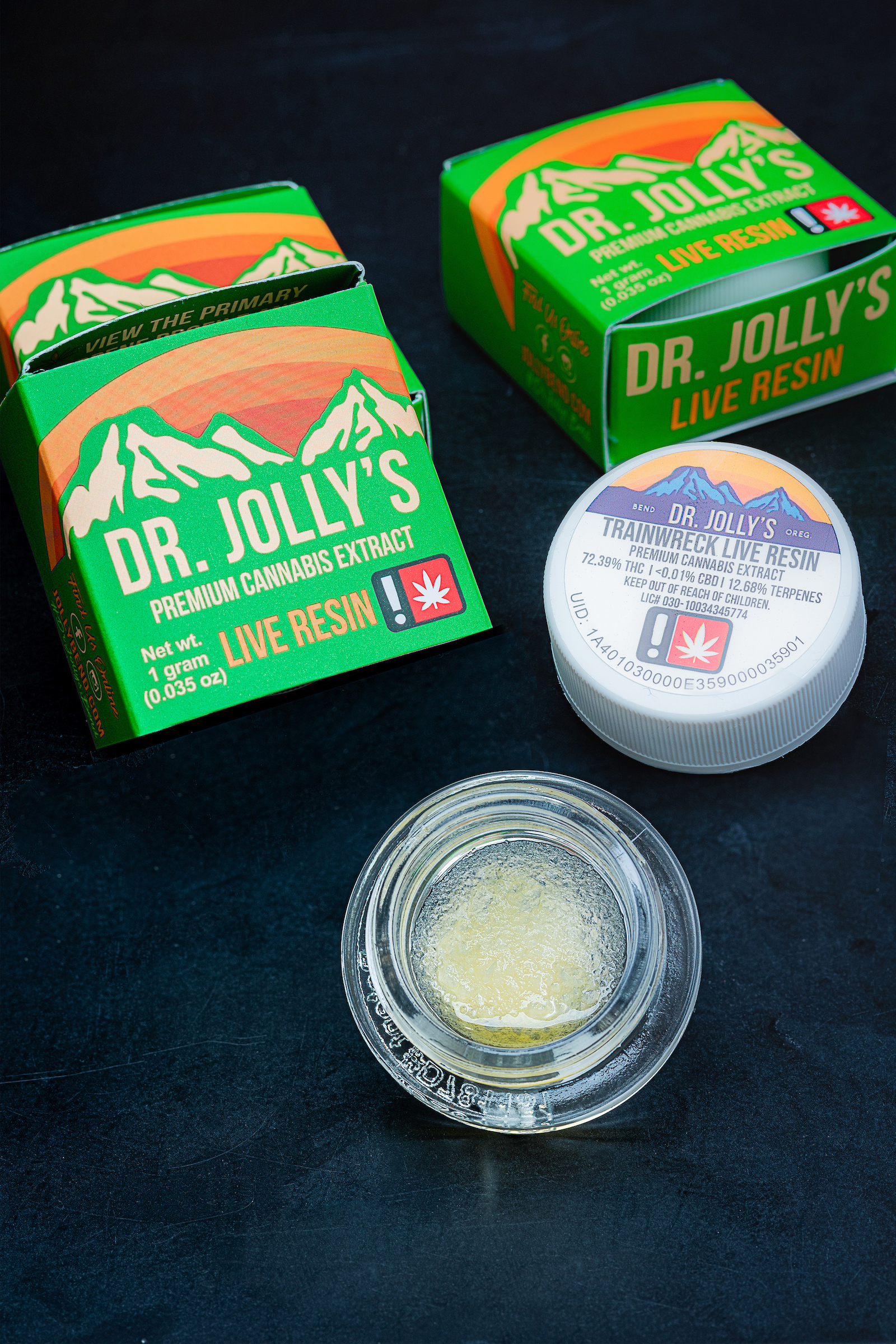 Dr. Jolly's Trainwreck Live Resin Concentrate