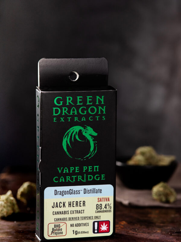 Green Dragon Jack Herer 1 Gram Vape Cartridge