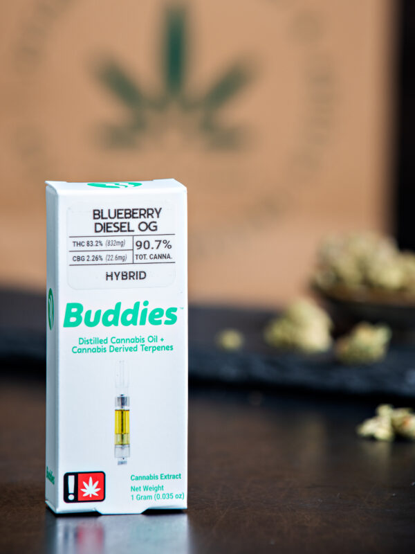 Buddies Blueberry Diesel OG Cannabis Vape Cartridge