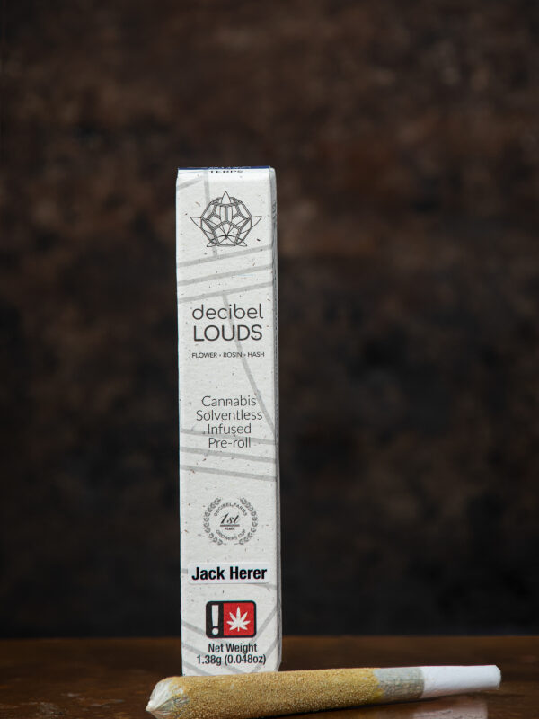 Decibel LOUDS Jack Herer infused Cannabis Pre roll