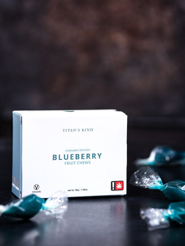 Titan's Kind Blueberry Cannabis Fruit Chews with Blue Dream