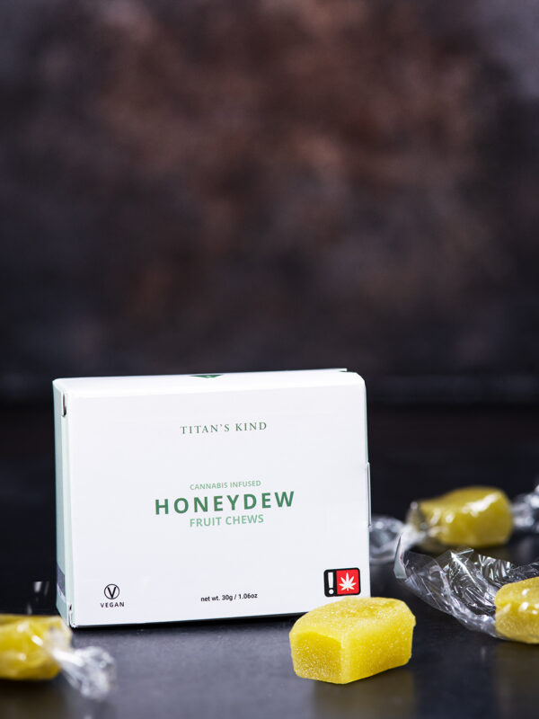 Titan's Kind Honeydew Cannabis Fruit Chews with Headband