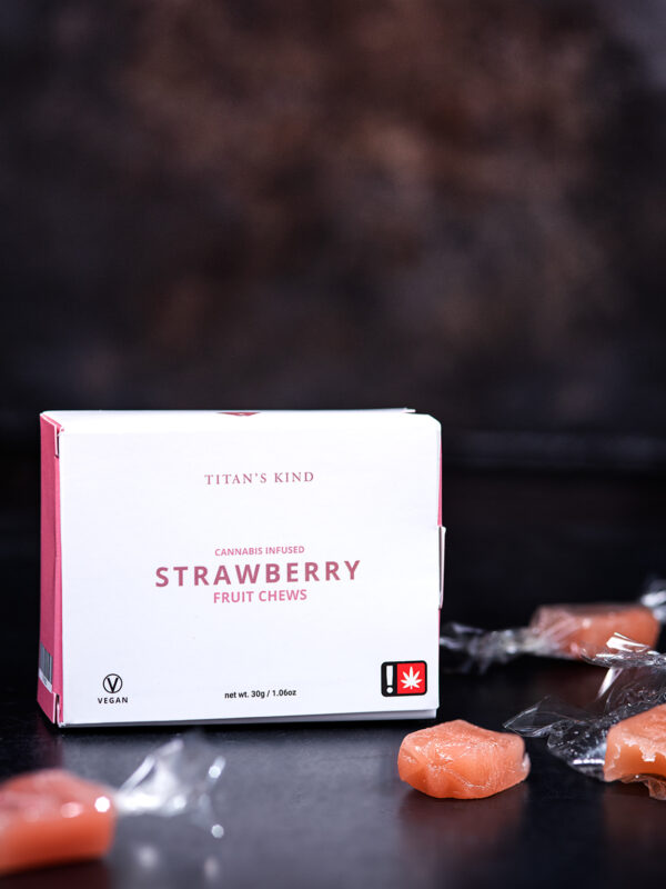 Titans Kind Strawberry Cannabis Fruit Chews with Cinex