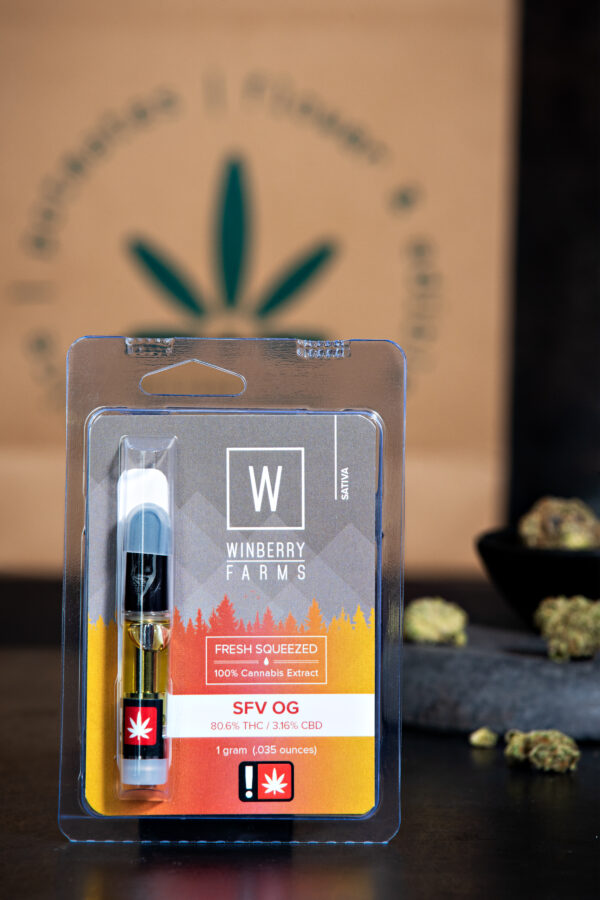 Winberry Farm's SFV OG cannabis Vape Cartridge
