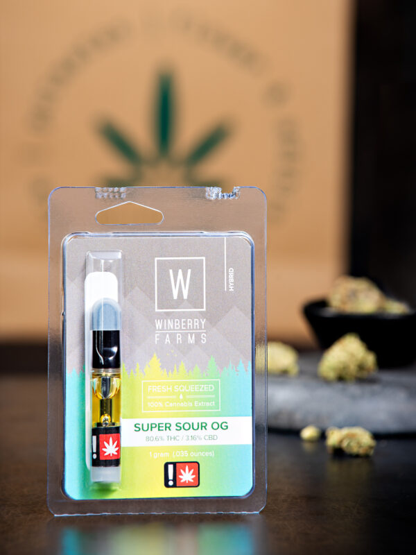 Winberry Farm's Super Sour OG cannabis Vape Cartridge