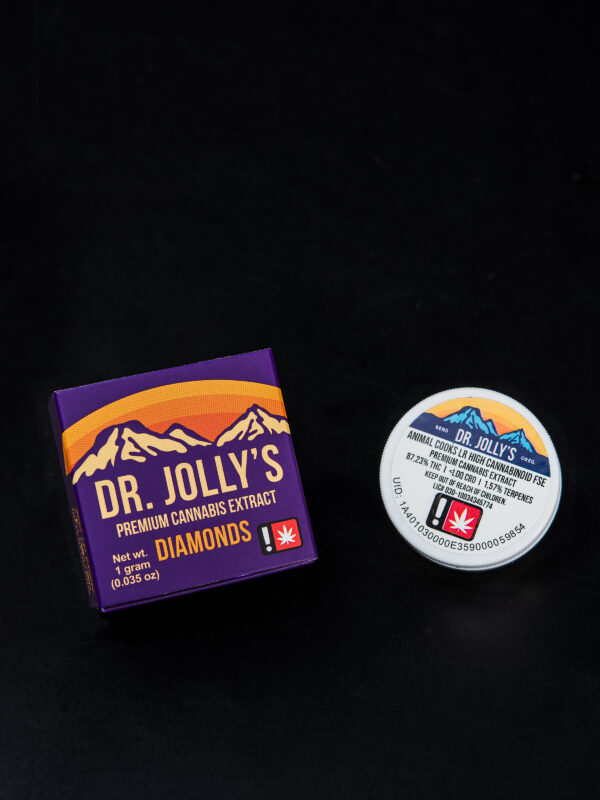 Dr. Jolly's Animal Cookies Diamonds Cannabis Concentrate packaging