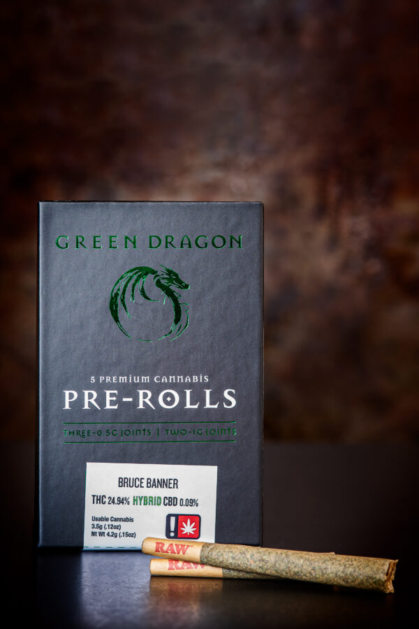 Green Dragon Bruce Banner Cannabis pre-rolled joints
