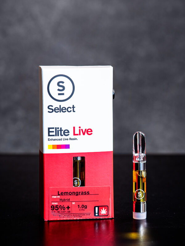 Select Elite Lemon Grass Live Resin Vape Cartridge